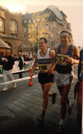 Onkel Achim and my dad running in Berlin in the 80ies