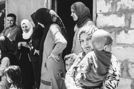 Many Syrian women, who have lost their husbands or their sons are grateful to Abou Hassan and Nofa (Samer Rawadi)