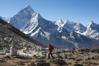 Towering above the Khumbu - Ama Dablam!