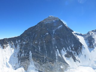 The view from Nuptse proves it: Everest is a big pile of rock