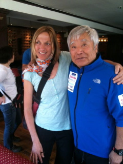 An amazing man - Yuichiro Miura on his way to becoming the oldest person to climb Everest.