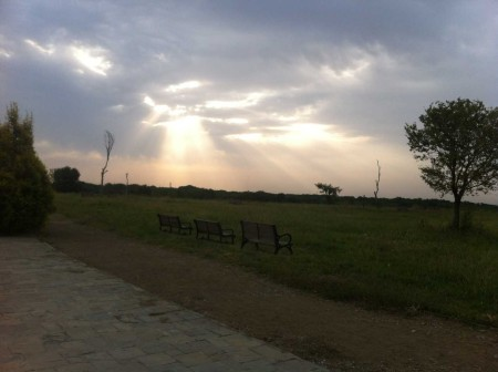 6.30am on my run through Jinnah Park in the middle of Islamabad