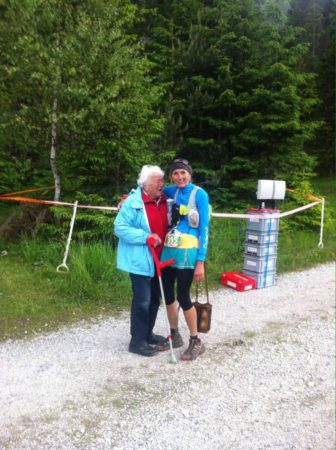 It was soo special to see my mum at the checkpoint in Leutasch.
