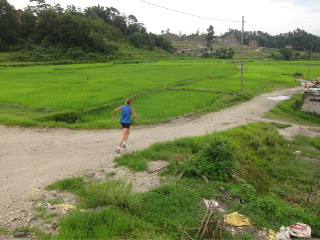 Running in the lush greenery created by the monsoon