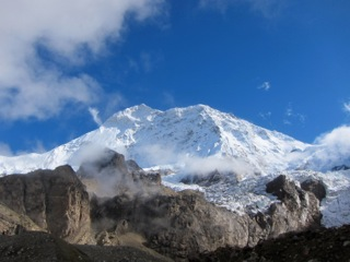 Makalu seen from Makalu base camp