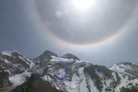 Interesting moisture forming over Broad Peak