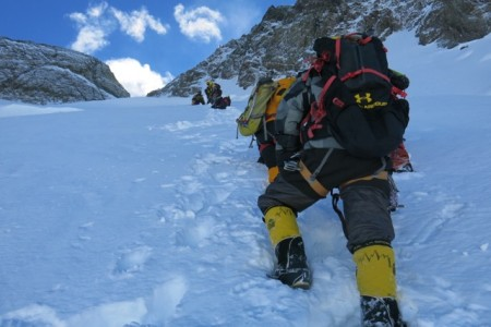 On our way to the col during summit attempt