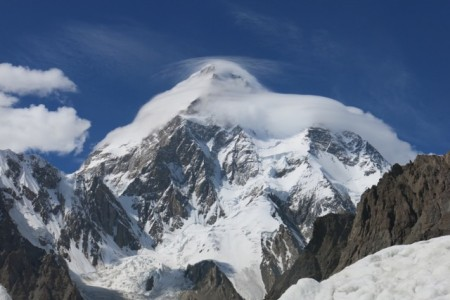 K2 with a lenticular cloud boding for bad weather