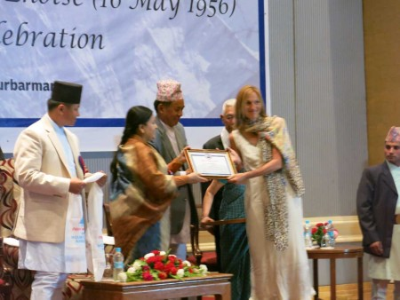 Receiving the Letter of Appreciation from the Nepali President