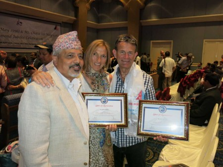 Ted and I with Krishna and our certificates