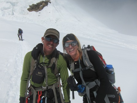 Jaime and I at our high point at 6,100m on Sunday