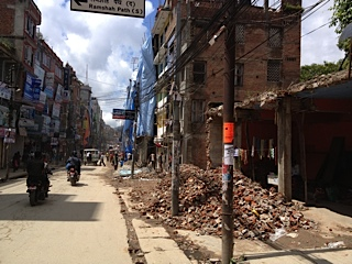 This is what the main roads in Kathmandu currently look like
