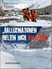 Halluzinationen hielten mich am Leben (Alpin, August 2011)