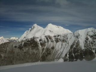 Everest and Lhotse seen from Camp 2 makalu