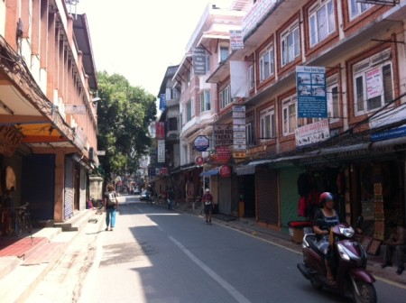 Empty streets of Thamel