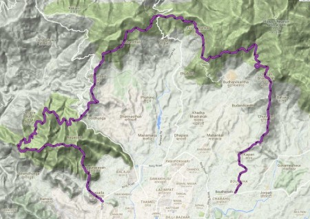 The route (TrailRunningNepal)